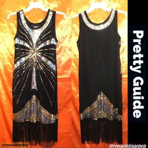 Sequin Flapper Dress Ala The Artist
